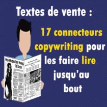 des connecteurs pour vous faire lire des texte de vente