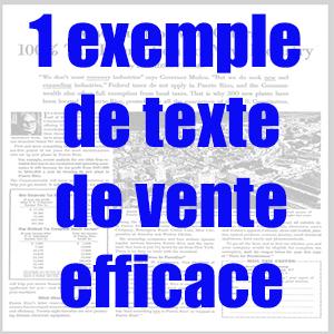 copywriting exemple de texte de vente