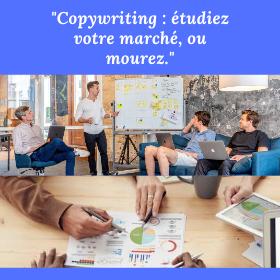 copywriting, étude du marché