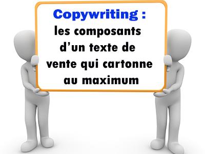 Copywriting et les composants d'un texte de vente